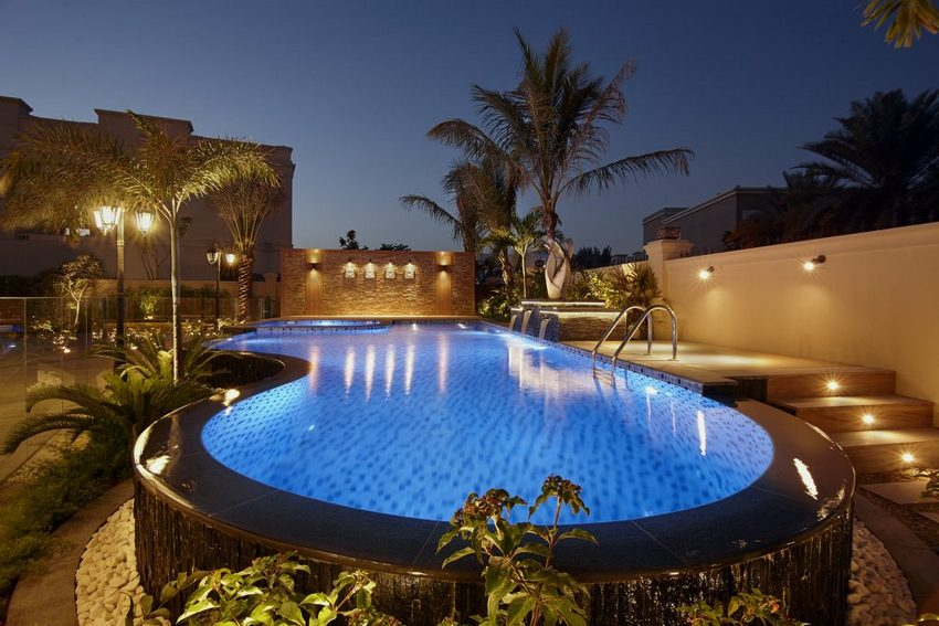 decorated pool