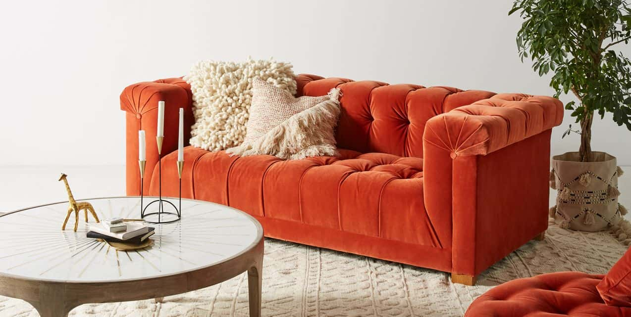 warm colors for living room furniture