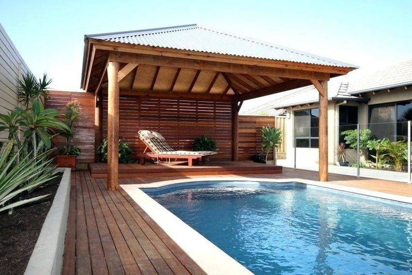 Swimming Pool Cabana Design To Transform Your Outdoor ... on Small Pool Cabana Ideas id=72997