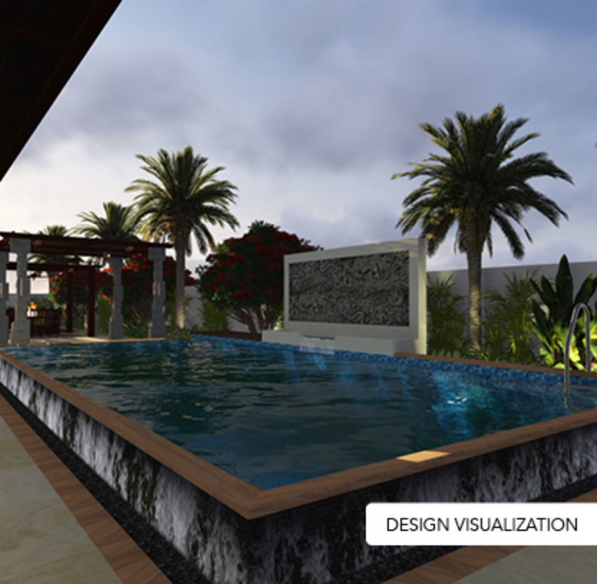 design visualization of the pool