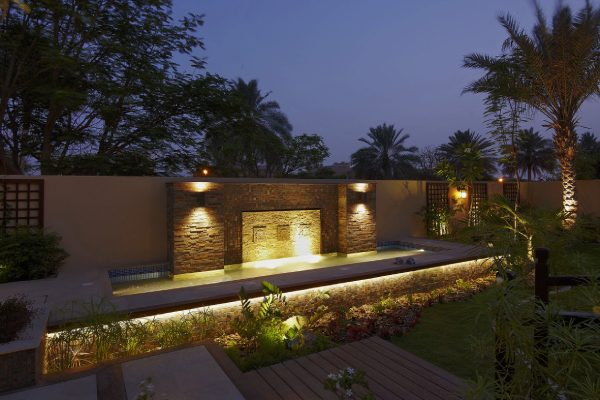 Parvez Ansari La collection Mirador Water feature night